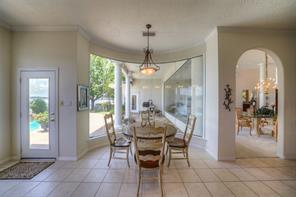 Another view of the breakfast nook. Can you believe the amount of glass in this home?