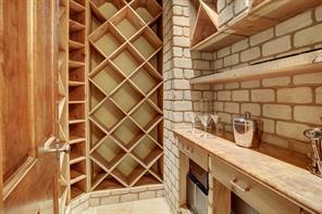 Temperature-controlled wine room.