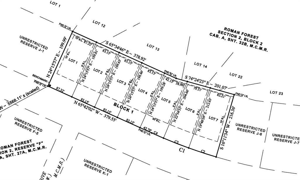 Lots 1-7 Appian Way, Roman Forest, TX 77357