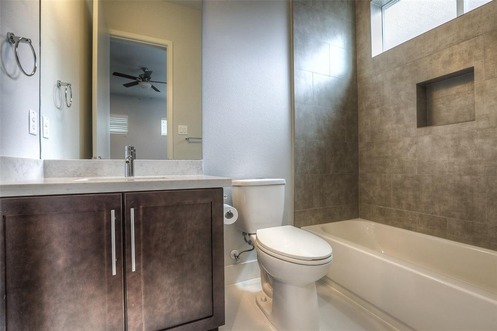 Full bath # 2 with modern finishes