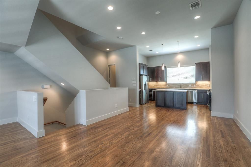 Dining space is open to the kitchen and living area.