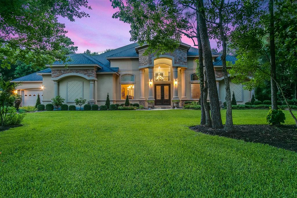 One of a kind custom home on just over an acre in Benders Landing! Double wrought iron doors give way to a world of luxury where you are immediately greeted by a beautiful spiraled staircase and the rotunda foyer. A sprawling floorplan offers roman columns, tray ceilings, and custom built-ins throughout the home. The master's retreat showcases a bay windowed seating area in addition to a gas log fireplace and a spa-like bath with his/her everything while a secondary guest suite is located downstairs and perfect for in-laws or extended family. Entertain in the gourmet island kitchen that boasts upgraded stainless appliances and elegant millwork. Upstairs you'll find spacious secondary bedrooms, a game room with wet bar, a media room, and a private study. The four-car garage provides all of the needed space and the 24 zone irrigation system keeps the entire property looking great year round. The nine-person spa will convey with purchase. Call to schedule your private tour today!