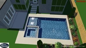 Perfect backyard for a pool. Additional pool renderings and plans available upon request.