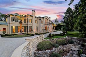 FRONT ELEVATION: Stunning estate in Sherwood Forest designed by Ed Eubanks on over one and a half acre lot.