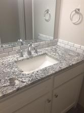 Modern and clean undermount sink at the vanity area.