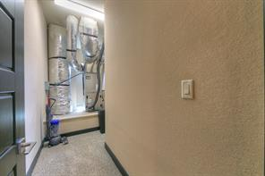This is the cooled Mechanical room which allows even more storage and easy access to the HVAC system.