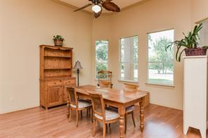One of the most spacious breakfast rooms you will find.  And, yup...that's the golf course through the many windows.