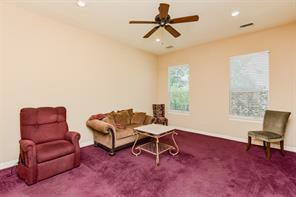 2nd bedroom is generously sized for a 2nd master arrangement.  Golf course views, recessed lighting & c-fan.