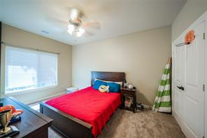 The bedrooms are very spacious and have large closets and ceiling fans.