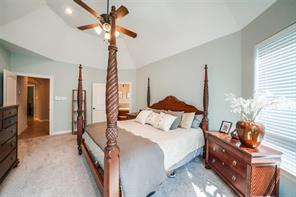 Master bedroom is down the private hallway and feature a vaulted ceiling and a 5-piece bath.