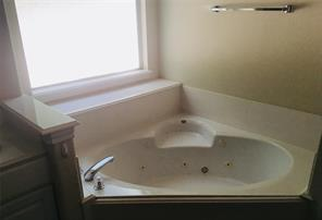 The double sinks and spacious counter of your en-suite Master bath make morning prep a joy.