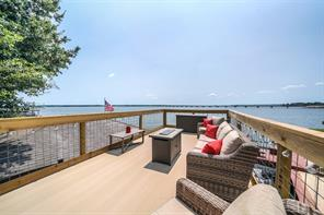 This could be your view every day!!! Friends and family will love visiting you on Lake Conroe! Newly constructed upper deck with aluminum interlocking complete the look!