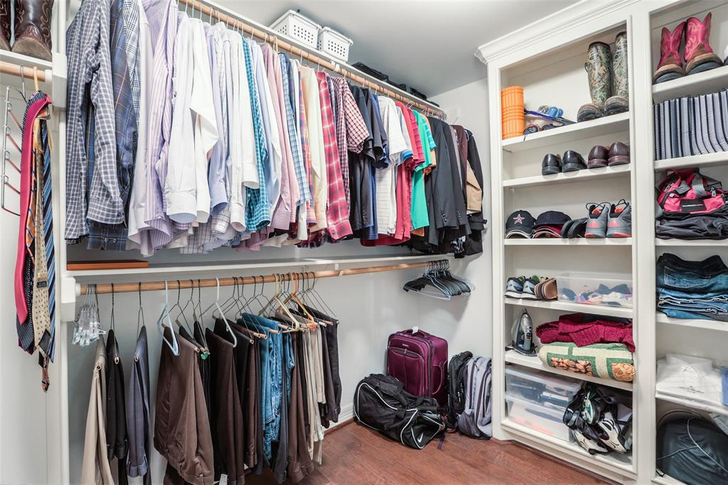 Your shoes have a home! The master suite also includes 2 large walk-in closets.