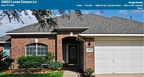 Houston Home at 26622 Lucas Canyon Ln Katy , TX , 77494-4670 For Sale