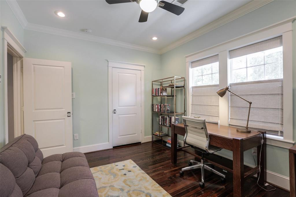 Both of the secondary bedrooms are nice sized rooms with hardwood floors and recessed lighting.