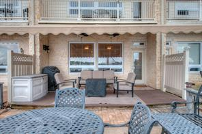 Patio Deck includes Retractable Awning, ceiling fans with lights and small privacy fence for your enjoyment.  Wall mount for TV included