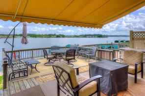 Remote Control Awning over the Waterfront Deck.  Fantastic View