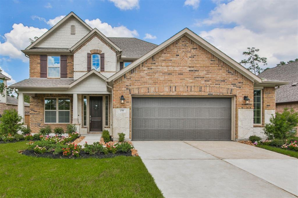 Beautiful Beazer home located in the highly acclaimed Woodlands area for lease. This 4 bedroom, 3 1/2 bath home has everything!!. built in 2018, make this brand new home your own personal space, take pride in living in this beautiful home as it features many upgrades, comes with a complete appliance package all ready there for you. Just to mention a few of the many amenities it features:  Automatic water sprinkler system, Security alarm system, Private study, gameroom, master suite downstairs, gaslog fireplace, Covered Patio, nice size backyard for entertaining your guest. Community amenities include walking trails, swimming pools, parks, and a golf course, not to mention quick access to I-45 and to Grand 99. Excellent schools for the children. Call and make your appointment today to see this lovely home.