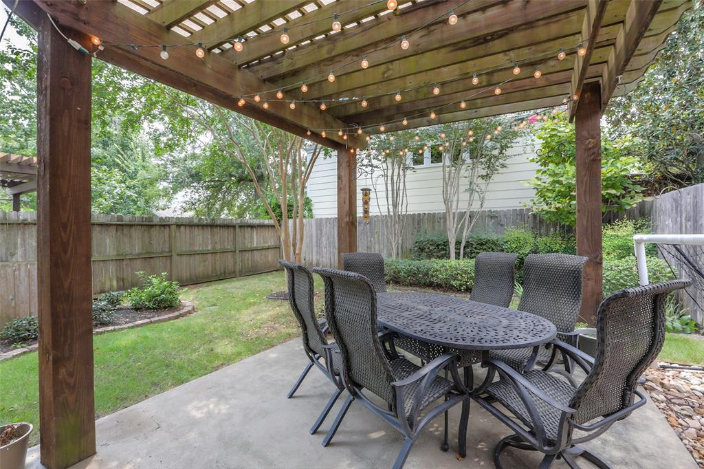 Enjoy your morning coffee on the covered back yard patio.