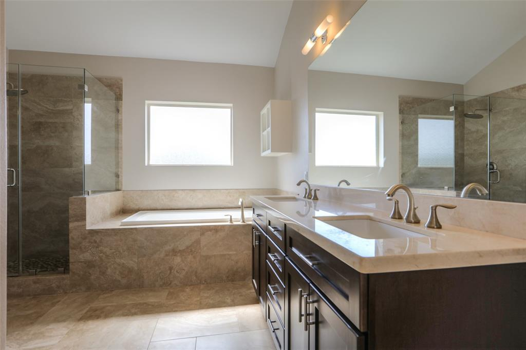 You'll love starting your day in this luxurious master bath