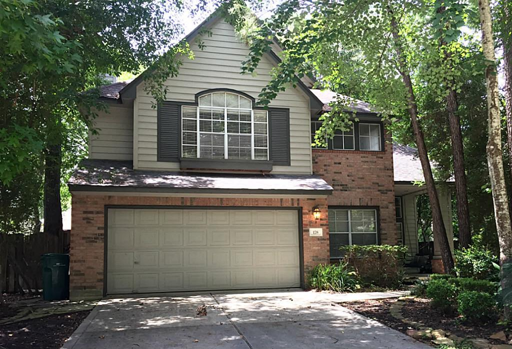 SECLUDED NEIGHBORHOOD! Move-in condition. Airy, light-filled Lifeforms Hawthorn 5/2.5/2 plus study. NEW CARPET! Beautiful travertine porcelain tile floors downstairs and neutral colors. Kitchen with granite counter tops opening to family room. Conveniently located to award winning Barbara Bush elementary school, Alden Bridge Park, tot park, Alden Bridge (Kroger) Shopping Center, and newer HEB. Convenient to FM-1488 (New Xtreme Cinema just a couple miles) with easy TX-242 and I-45 access. WASHER, DRYER AND REFRIGERATOR INCLUDED!  Never flooded! Take a look today!