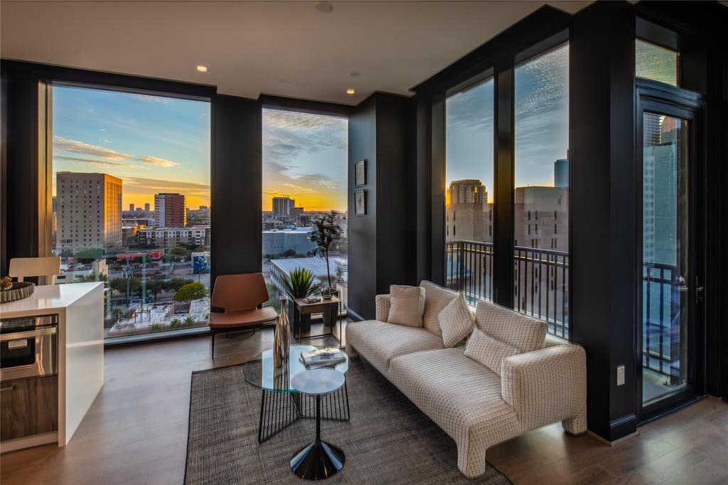 Concept image of living area at the Marlowe Condominium, Houston, Texas