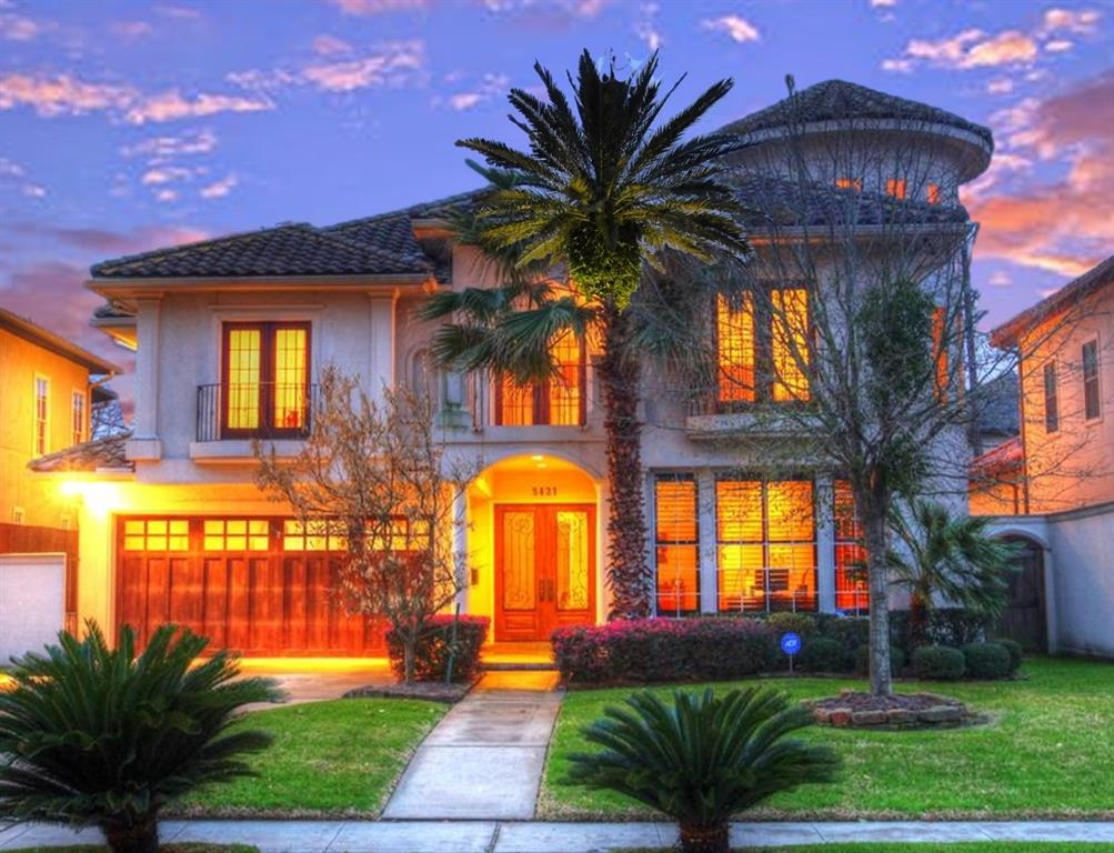 Enjoy the exquisite craftsmanship by Piney Point Homes in Premier Uptown living.  This elegant Galleria home has impeccable finishes throughout. DID NOT FLOOD - per Seller.  See stunning features like:  rich wooden floors, a sweeping staircase, open kitchen with granite countertops, tile, sub-zero stainless steel refrigerator, media room. balconies with beautiful views, floor to ceiling windows, tropical landscaping, large entertainment areas, wine closet, architectural turret and tile roof for your pleasure. Unwind in your resort saltwater pool letting the sounds of the waterfall relax you in this livable setting. Carpet is new and so are two of the three Air Conditioning Units. 24/7 SAFETY PATROL ALSO. All within walking distance of the famous Houston Galleria shops and restaurants.  Convenient to Loop 610, I-59, I-69,  UpTown Park shops and restaurants and much more.