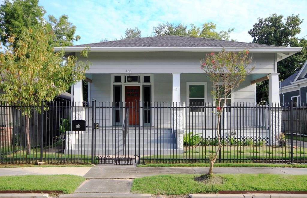 This Historic 1920s bungalow has gone through extensive renovations int he past few years.  Per the seller, the roof, AC, Heating, Kitchens, Bathrooms, and tankless water heater have all been added in the past couple of years.  Also, the home is fully fenced all the way around, so your animals and kids will have free reign to run around.  Plus, there is a fully automatic gate for added security.