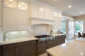 The countertops are quartzite and the backsplash is marble.