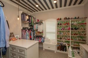 Closets are such an important item these days to the luxury buyer. This home's two master closets will put a smile on your face.
