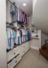 And his closet was finished off nicely as well.