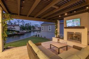 Even though the inside of the home is lovely, the outside will always be the spot where folks like to sit and enjoy the waterfront lifestyle. What a lovely evening to share with your family and friends.