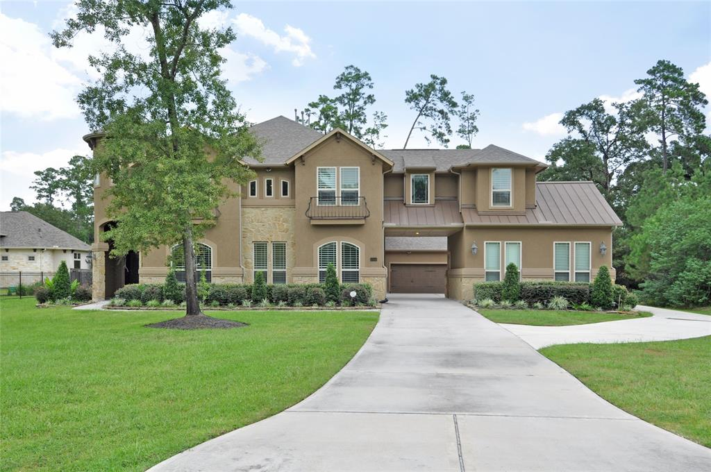 **5 BEDROOMS-5 1/2 BATHS-5 CAR GARAGE**Escape to this Benders Landing Estates home where luxury & elegance meet comfort & charm! It's nestled among trees on over an acre & commutable to 99, I-45, I-69/59 & points beyond! Enter the foyer to the study & formal dining rm on the right. The gourmet kitchen features stainless appliances, double ovens, maple cabinets, granite counters, tiled backsplash, gas cook-top & a pot filler! The cook's kitchen opens to an expansive family rm, hardwood floors, gas fireplace, beautiful views of the backyard & patio & Plantation Shutters throughout! Master Suite features bay windows & views of the backyard with en suite bath: separate tub/shower; custom tiled floors, double closet & custom shelves. Downstairs is a guest suite. Upstairs are the expansive game & media rooms plus 3 bedrooms & 3 baths. Outdoor leisure is at its finest in a spacious backyard & covered patio ready for a TX BBQ!  This luxurious Benders Landing Estates home is waiting for you!
