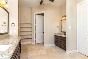 Large master bath with builtins for easy storage
