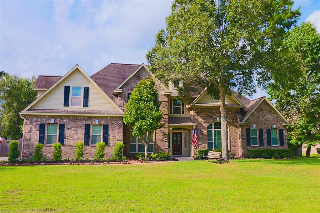 Beautiful Benders Landing home sitting on a full acre. Two story with lots of tile and wood floors. Master, Office, and Guest Suite are all on 1st floor. Nice breakfast/coffee bar with granite and spacious breakfast room leading to incredible covered patio. Upstairs has a media room, a game room, and bedrooms. The master on-suite is laid out perfectly with a large closet and built ins with a whirlpool tub and large shower. Tastefully done landscaping and extra storage in the back. 2-car side entry garage w/ well crafted storage shelves. Don't miss this opportunity for a move-in ready property. Quick access to the new 99, Spring, The Woodlands, Shopping, Entertainment and More.
