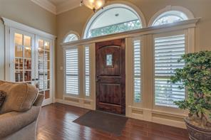 Plantation Shutters and custom woodwork throughout the home