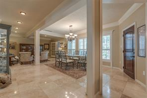Open floor plan for the entertainer.  Recess lights have custom accents.  No detail was overlooked in this home