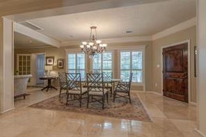 Formal Dining area with views of a perfectly landscaped backyard