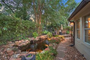Stocked Koi Fish Pond.  Extremely private backyard