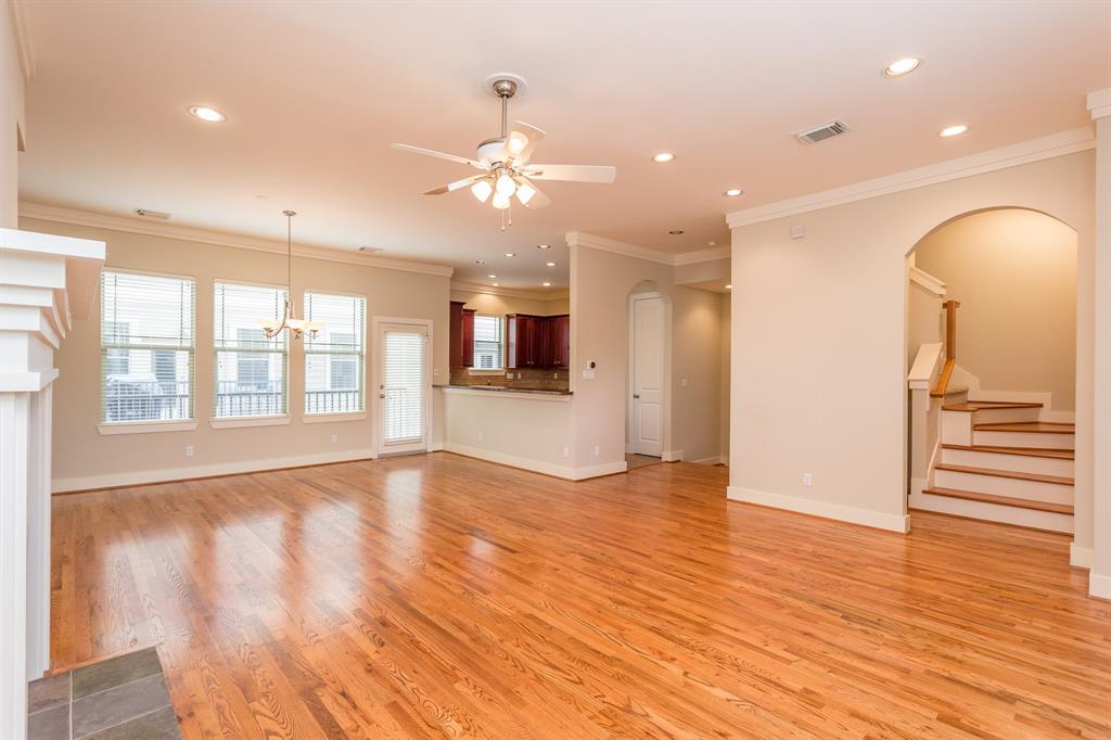 The open floor plan is perfect for entertaining.  Check out all the natural light.