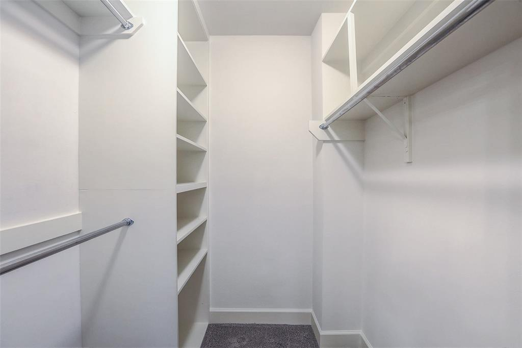 One of two large closets in the Master suite.