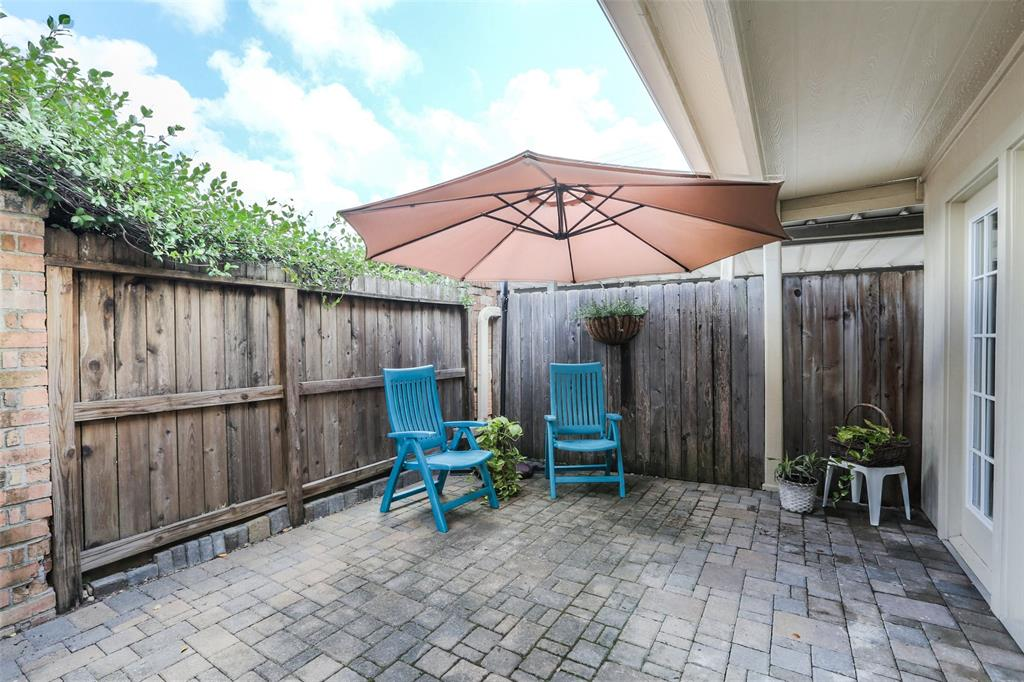 This large patio is a perfect spot to relax in the afternoon.