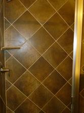 Ceramic Tile Surround in Master Shower