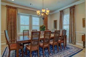 The 16x14 Dining Room is large enough to accommodate a table for 10 with room left over!