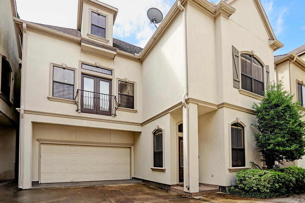 This beautiful French country style, free-standing home is a gem in the heart of Rice Military!  A gated community with NO HOA dues is a rare find!  Walking distance to restaurants and bars like Blue Fish, El Tiempo, The Classic, Kung Fu and Clutch, and running/biking distance to Memorial Park, you simply CANNOT beat this location!  This elegant home features first-floor living, 11 foot ceilings, freshly painted walls, recently added recessed canned lighting, refinished or recently laid real hardwood floors, recently tiled travertine flooring, custom crown molding, custom built-ins, stainless steel appliances, and granite countertops.  The Master suite is very spacious, and there's even a flex room on the third floor perfect for an office, gameroom, workout room, kid's playroom, or 4th bedroom!  Don't miss out- this one is going to go fast!