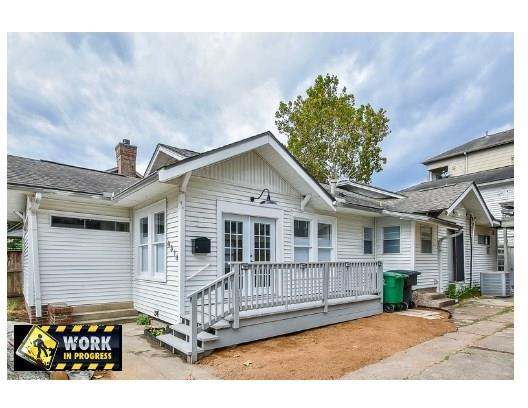 "Welcome Home! This 1930's Bungalow is on a tree-lined street, only minutes from downtown, Memorial Park & Buffalo Bayou Park. 2 Bed/2 Bath with an open floor living/dining area that even has a Murphy bed for your guests.  It has new flooring, lighting & insulated cellular, shade-blinds throughout.  A gas fireplace located in the ""Library"" Updated kitchen with sliding barn door over the pantry, black appliances, 3-burner Wolf cook top & a 7' stainless steel island w/breakfast area that is surrounded by windows and doors for extra lighting! Master bedroom has en-suite bathroom w/wardrobe closet.  New Furnace and A/C system Nov 2018. FULL size front load washer/dryer. OFF Street parking for 2 autos. Cedar lined utility closet.  Large deck on the front of the home.  NO GRASS TO MOW!  Steps to Spotts Park, dog-friendly Cleveland Park, & phenomenal Houston Hike & Bike trails. Never flooded! Call today for your showing...this one won't last long."