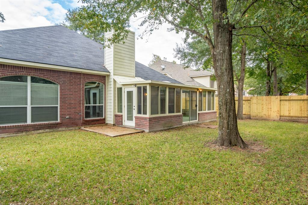 This home has been updated as of Oct 2018.  Completely painted, new carpet, new appliances, new patio door and power-washed.  It is wonderful house with two master suites.  There is a game room and study with closets- they can be used as bedrooms.  Lovely family room with large kitchen and breakfast room adjoining it.  The hallways are very wide and can accommodate pieces of furniture.  Outdoor sun room with air conditioner but can also double as a screened in patio.  Storage shed in back.   This is a lovely neighborhood that has pools, parks and hike and bike trails.  Close to schools. Yard service is included in lease.