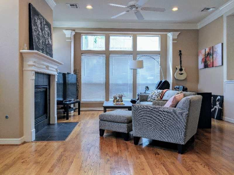 Stunning contemporary freestanding house in Rice Military! Walk/run to Memorial Park, down the street from all the Washington hot spots, close to Downtown, Midtown Houston. The place is just right for you for inner city life!This beautiful house features high ceiling, oak hardwood floor, walls of windows and a gourmet kitchen with slab granite counter tops and stainless appliances. There is also an upgrade in the master bathroom which it comes with both a tub and separate shower room with glass windows that do not see through from outside. Other great features include double crown moldings, tile surround gas log fireplace, spacious master bedroom with balcony, and small patio area. Refrigerator is bought in April. Schedule your appointment today with Karen @ 832-867-7335!