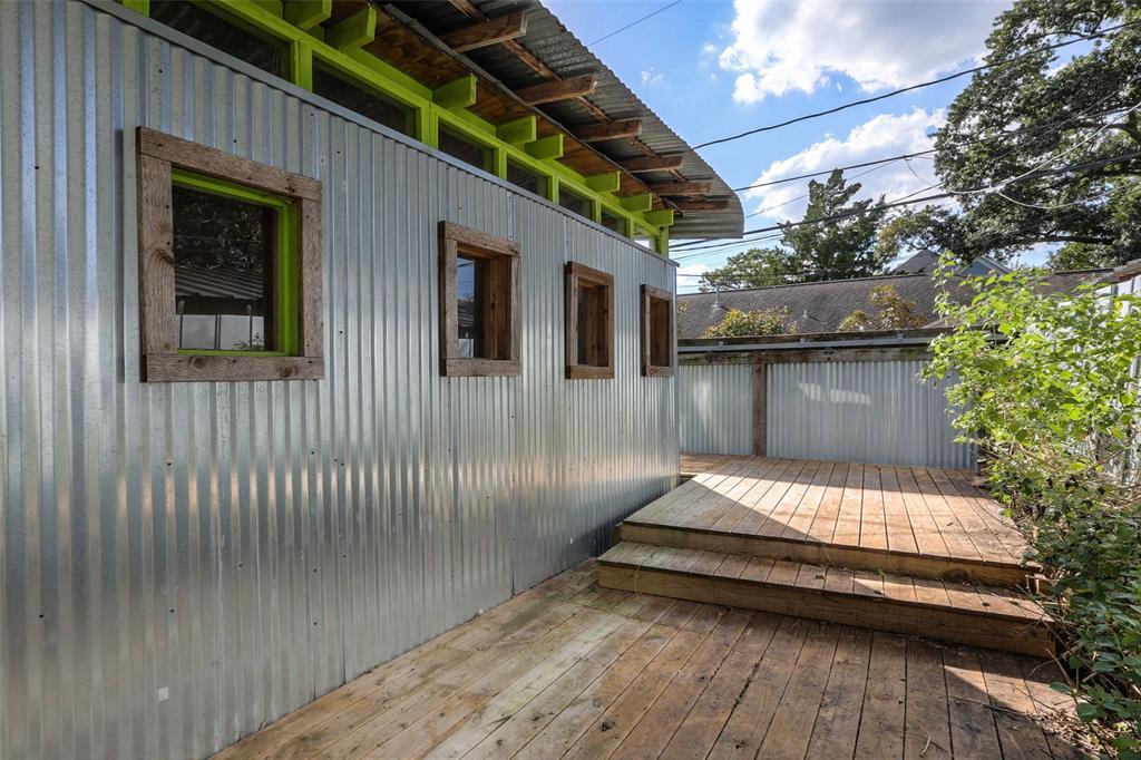 Back yard deck area.
