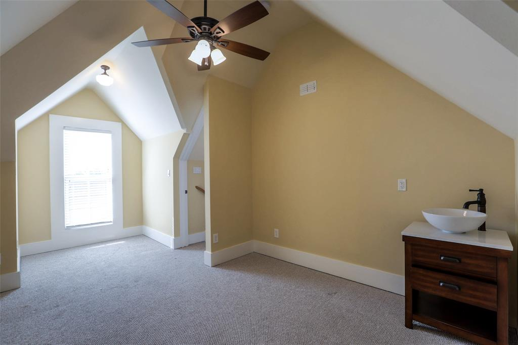 Third floor bonus room could function as another bedroom, office, or exercise room.